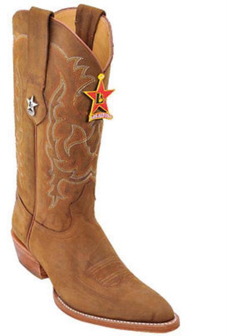 Mens Los Altos Crazy Honey Cowboy Western Boot Leather JToe