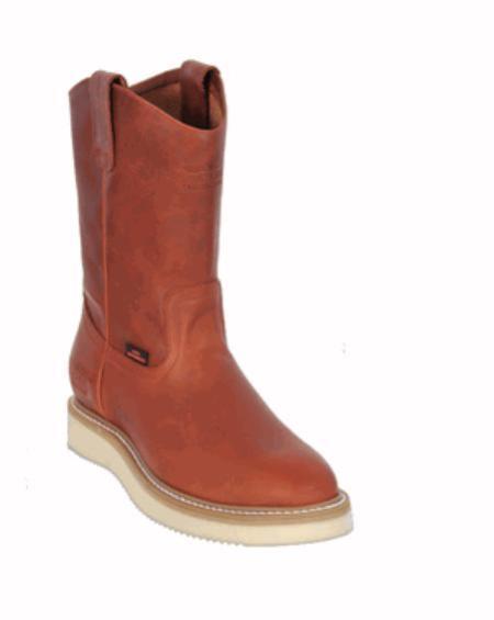 Mens Los Altos Grasso Nappa Work Boot Honey