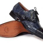 Mens Mauri Italy Black Charcoal Alligator Skin Italian Shoes
