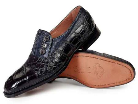 mens mauri italy three button black alligator ostrich skin italian