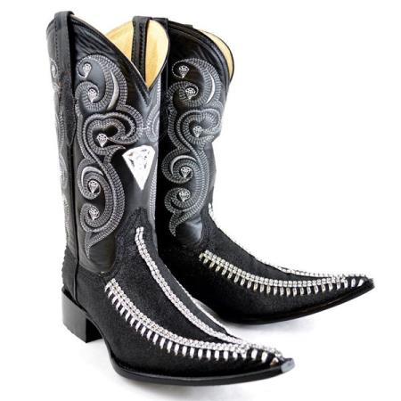 Mens New Reg:$795 discounted sale clearance diamonds Boots Original Leather 3x-Toe Rhinestone Fashion Boots