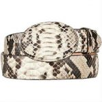 Mens original python skin western style hand crafted belt natural