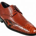 Mens Python Skin Cognac Dress Shoe