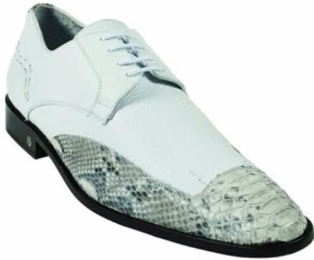 Mens Python Skin Natural Dress Shoe