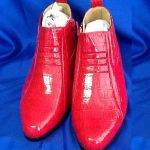 Mens red two tone shoes