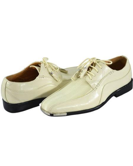 Mens two toned shoes ivory ~ cream ~ off white
