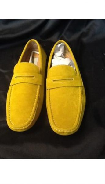Mens Yellow Gold Oxford loafer slip on Mens shoe Slip On Shoes