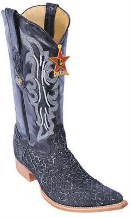Menudo Leather Black Silver Los Altos Mens Cowboy Boots Western Classics Riding 230