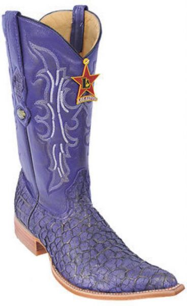 Menudo Leather Vintage Purple Los Altos Mens Cowboy Boots Western Classics Style 230
