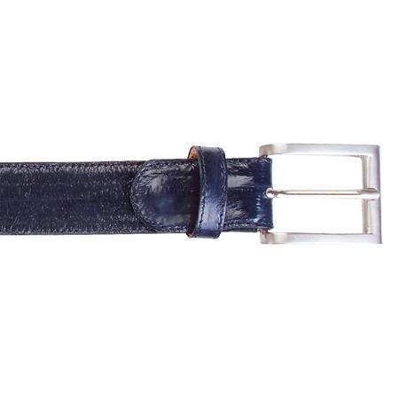 Navy Genuine Eel Belt 69