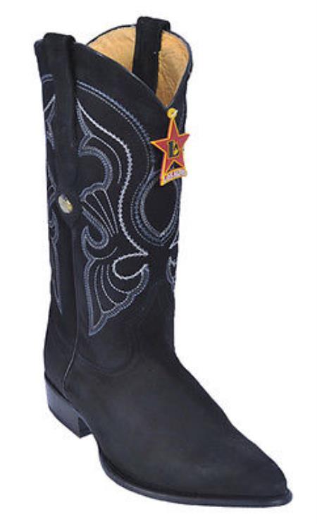 Nubuck Black Los Altos Mens Cowboy Boots Western Classics Riding JToe