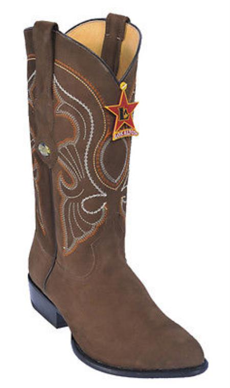 Nubuck Brown Vintage Los Altos Mens Cowboy Boots Western Riding JToe