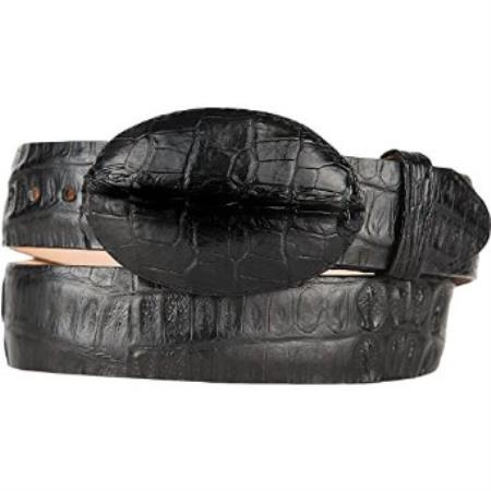 Original caiman hornback skin black western style belt