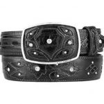 Original eel skin black fashion western belt