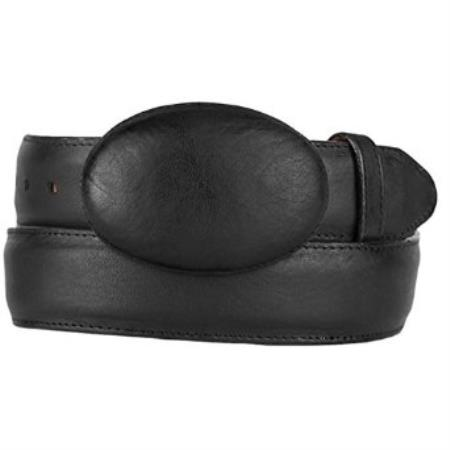 Original leather black western style belt