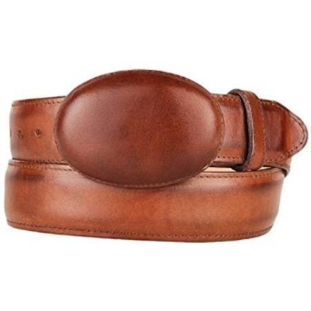 Original leather brown western style belt