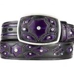 Original purple eel skin fashion western belt