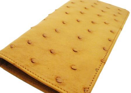 Ostrich Checkbook Buttercup