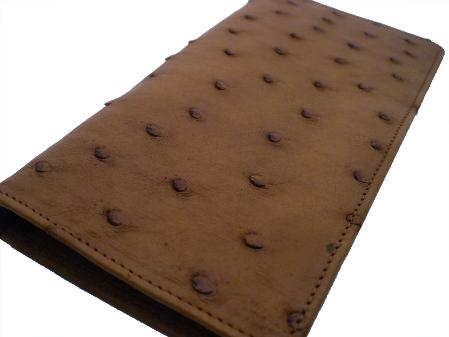 Ostrich Checkbook Kango Tabac