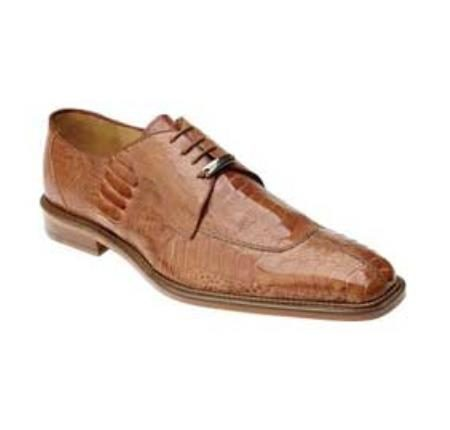 Ostrich / Eel and Stingray Exotic Dress Shoes in Burned Amber Ostrich