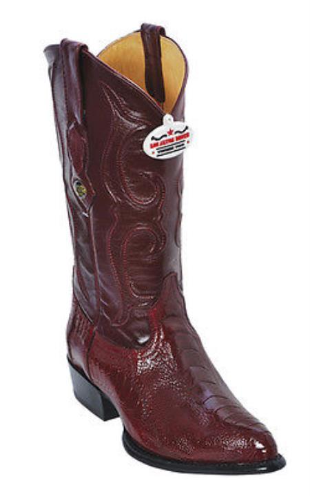 Ostrich Leg Burgundy Los Altos Mens Cowboy Boots Western Rider Classics Style
