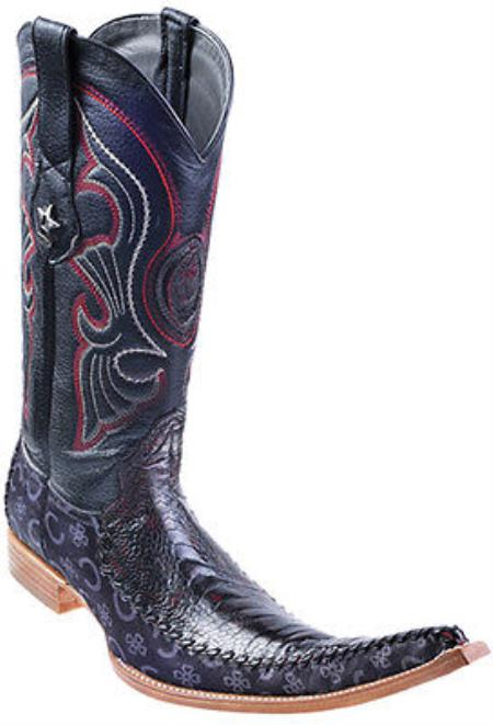 Ostrich Leg Handmade Black Cherry Los Altos Mens Cowboy Fashion Boots Western