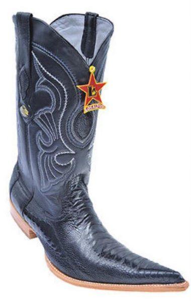 c886b2c3a7 Ostrich Leg Handmade Black Los Altos Mens Cowboy Boots Western Classics