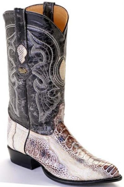 Ostrich Leg Natural Beige Los Altos Mens Western Boots Cowboy Classics Riding