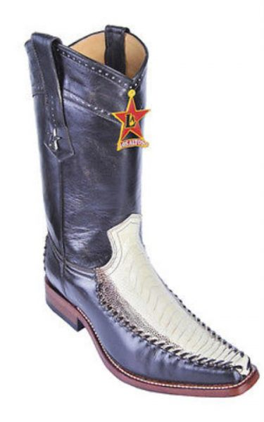 Ostrich Leg Winter White Los Altos Mens Cowboy Boots Western Wear Rider Vintage