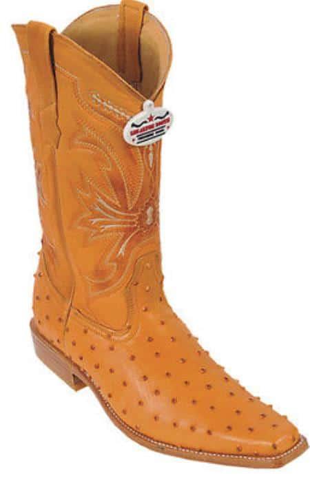 Ostrich Print Buttercup Los Altos Mens Western Boots Cowboy Classics