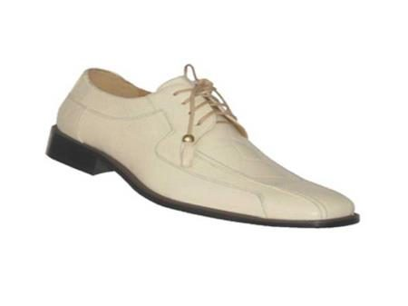 Oxfords faux leather embossed mens dress shoes cream