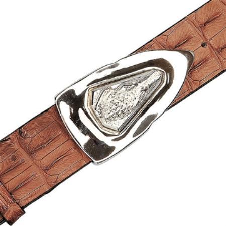 Peanut Genuine Crocodile Backstrap Belt