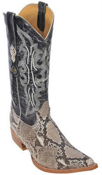 Python Belly Leather Vintage Beige Los Altos Men Cowboy Boots Western Rider