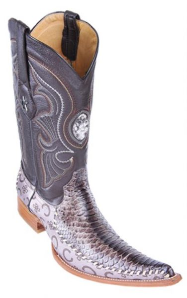 Python Skin Rustic Brown Los Altos Mens Western Boots Cowboy Classics Style