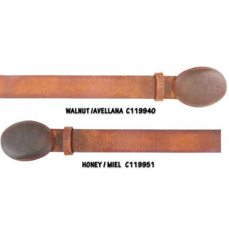 Rage Cowhide Belt Walnut and Honey