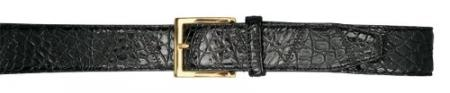 Real Authentic Skin Black allover Genuine Crocodile Patchwork Belt