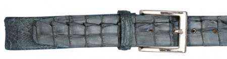 Real Authentic Skin Grey allover Genuine Crocodile Hornback Belt