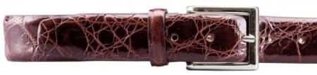 Real Authentic Skin Wine allover Genuine Alligator Belt