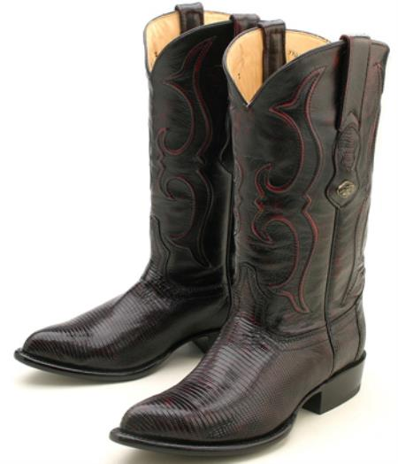 Ring Lizard Cherry Black Los Altos Mens Western Boots Western Riding Classics 230
