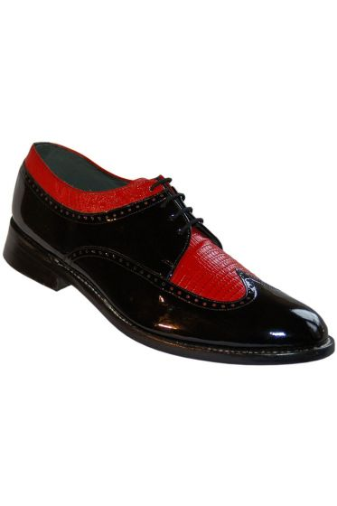 Black & Red Stacy Baldwin Tuxedo Shoes