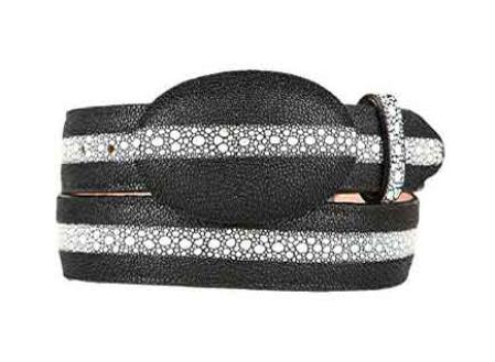 Stingray print western style belt black