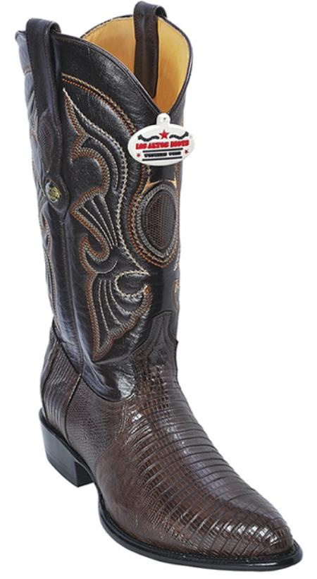 Teju Lizard Brown Los Altos Mens Western Boots Western Riding Classics Style
