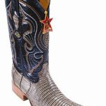 Teju Lizard Leather Rustic Brown Los Altos Men Cowboy Boots Western Rider Style