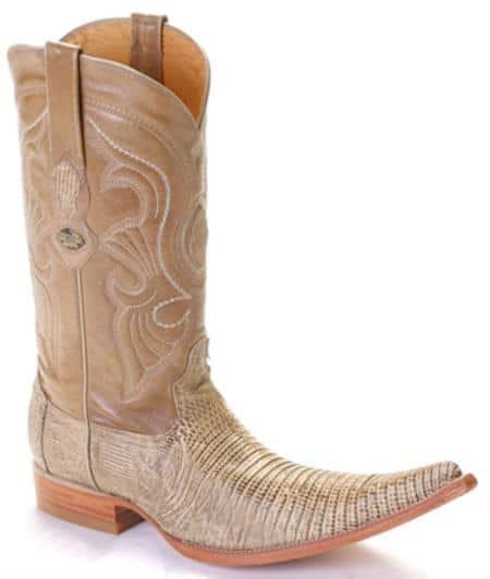 Teju Lizard Oryx Los Altos Mens Cowboy Boots Western Rider Style 253