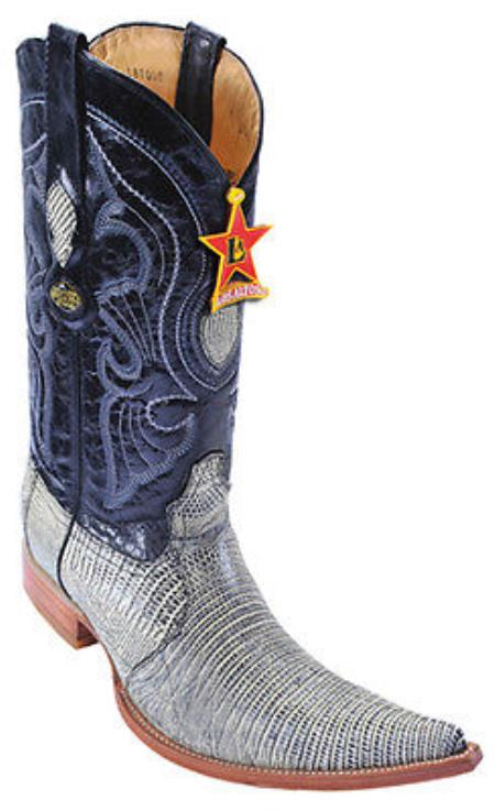 Teju Lizard Rustic Black Los Altos Mens Cowboy Boots Western Classics Fashion