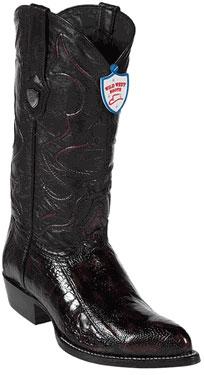 Wild West Black Cherry Ostrich Leg Cowboy boots 317