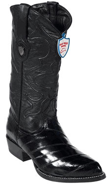 Wild West Black Eel Cowboy Boots 217