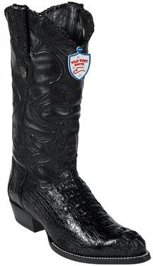 Wild West Black JToe Caiman Hornback Cowboy Boots 457