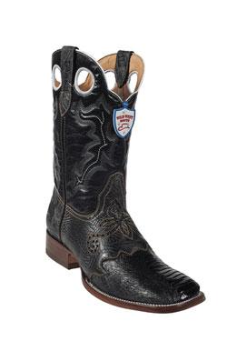 Wild West Black Ostrich Leg Wild Rodeo Toe Boots 277