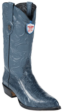 Wild West Blue Jean Ostrich Leg Cowboy Boots 317